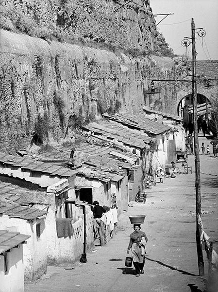 Rome. Mandrione district, 1956
