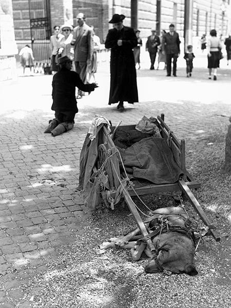Rome. Beggar, 1953