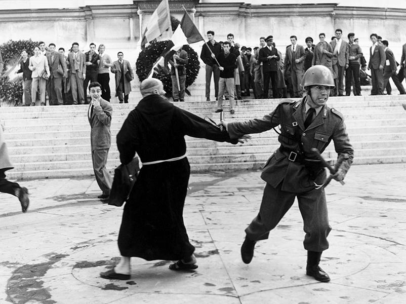 Rome. Demonstration at the Altare della Patria, 1956