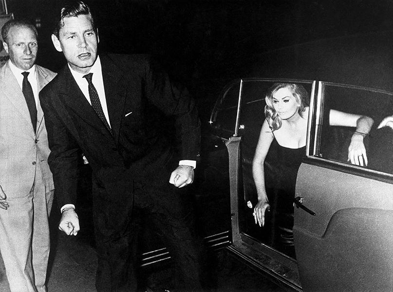 Rome. Anthony Steel and Anita Ekberg, 1958