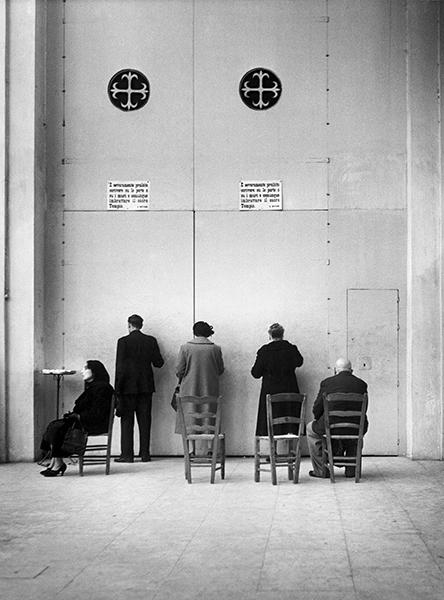 Palermo. In the church of St Domenico, 1953
