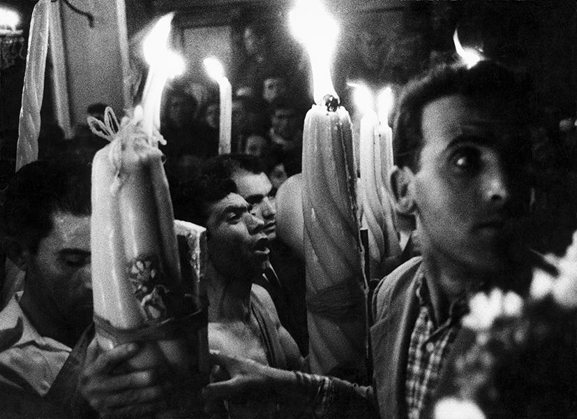 Trecastagni. Feast of Saints Alfio, Cirino, and Filadelfo, 1963